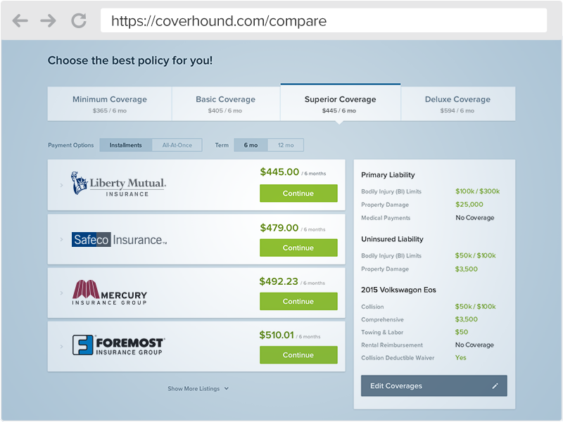 Compare Auto Insurance Quotes with Confidence | CoverHound